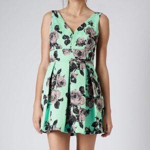 TOPSHOP Mint Green Floral dress